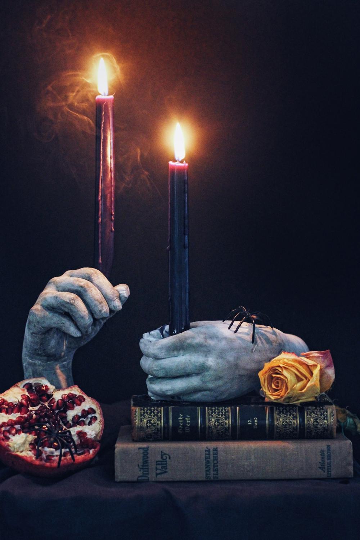 Hand Candlestick holder